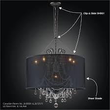 drum shade chandelier clip slide adapter kit sheer magic sh001 602bd6lmi 7c sh005 27 14b