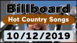 Billboard Top 50 Hot Country Songs October 12 2019