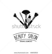 makeup brushes logo vector ilration