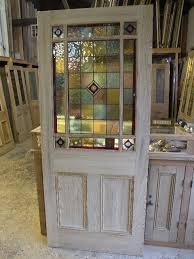 external downham stained glass door