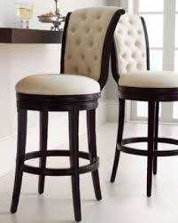 Swivel leather bar stools
