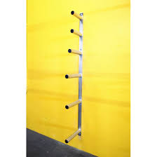 wall mount olympic plate rack