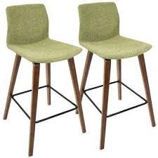 mid century modern bar stools. Cabo Mid-Century Modern Walnut And Green Fabric Counter Stool (Set Of 2) Mid Century Bar Stools B