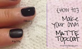 how to make a matte topcoat 1
