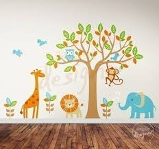 Safari Playland Nursery Wall Monkey Wall Decals & Tree Stickers by Designed  Designer