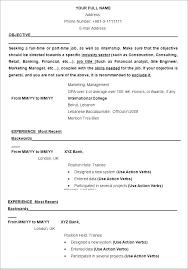 Updated Resume Samples Resume Format In Ms Word Resume Example Word