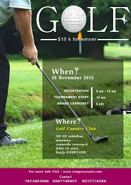 Golf Invitation Template Flyers Golfing Ohye Mcpgroup Co
