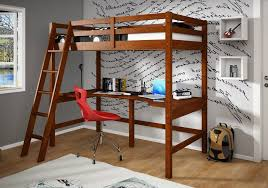 image of loft bed with desk plans pictures