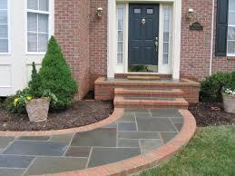 walkway front stoop. I always liked walkways to the front door.