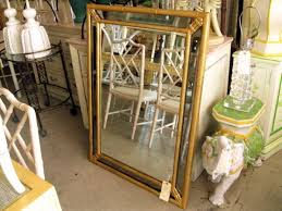gold bamboo mirror. Vintage Gold Faux Bamboo Mirror 2627