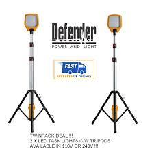 Fluorescent Work Light Tripod 2 X Defender Task Light Led Site Work Lighting Telescopic Tripod 110v 240v