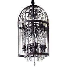 image of modern birdcage chandelier