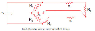 resistance temperature detector or rtd construction and working expressions for a three wires rtd circuit