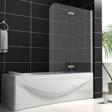 aquaspa ultimate frameless 1400mm high bath shower screen