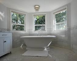 Bathroom: Bay Window Design Ideas With Freestanding Bathtub And ...