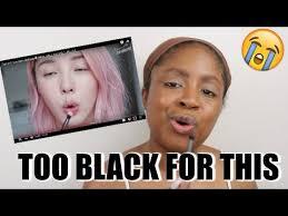 black tries following a korean makeup tutorial