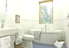 american standard cadet tub modern 3 4 bathroom with penny tile floors soaking surround american standard cadet tub