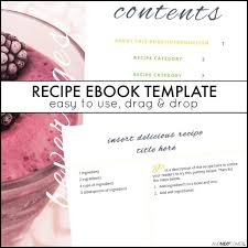 Publisher Cookbook Template Recipe Ebook Template And Next Comes L