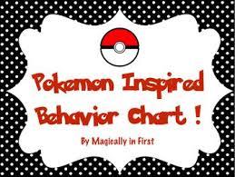 Pokemon Behaviour Chart Pokemon Go Inspired Behavior Chart Classroom Behavior