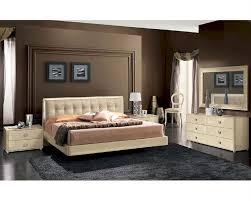 Modern Bedroom Sets Modern Bedroom Set In Beige Finish Made In Italy 33b101