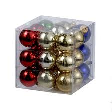 our catalog home 25mm miniature multi colored shiny glass ball ornaments