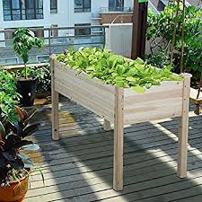 elevated garden beds. Yaheetech Wooden Raised/Elevated Garden Bed Planter Box Kit For Vegetable/ Flower/Herb Elevated Beds