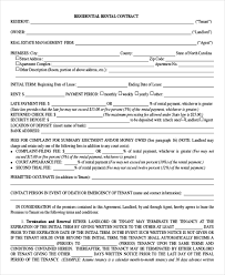 Residential Lease Contract 15 Rental Contract Templates Pdf Google Docs Word