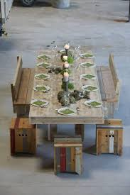 diy pallet outdoor dinning table. Simple Wood Pallet Dining Table Set | 101 Ideas Diy Outdoor Dinning I