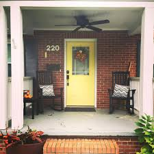yellow brick house red door. Front Door Inspirations Yellow House Colors Bright With Red Brick Exterior Dark Grey Shutters And White Trim C