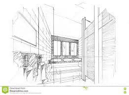 bathroom interior design sketches. Sketch Perspective Interior Toilet \u0026 Bathroom , Black And Design Sketches S