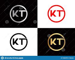 Kt Design Kt Square Shape Letter Logo Design In Silver Gold Color