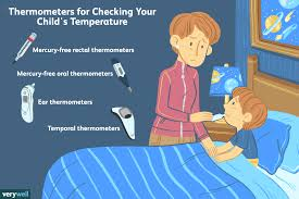 Fever Temperature Chart Ear Checking Your Childs Temperature For A Fever