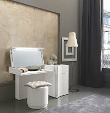 Entrancing White Modern Vanity Table With Mirror And Dressing Tables  Beautiful