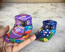 kitchen vintage owl salt and pepper shakers made of mexi on kitchen l shaped covered outdoor