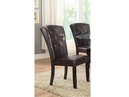 2pcs faux leather side chair