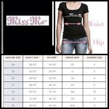 Miss Me Denim Size Chart