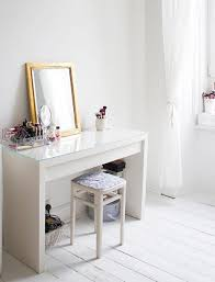 white wooden glass top dressing table ikea vanity white room decor
