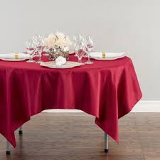 70 in square polyester tablecloth