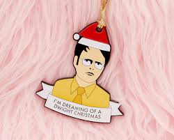 the office christmas ornaments. Dwight Schrute Christmas Ornament / The Office By Sweetandlovely On Etsy Https://www Ornaments