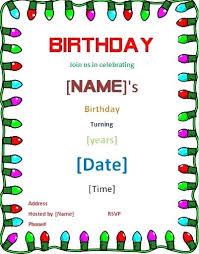 Word Birthday Template Growinggarden Info