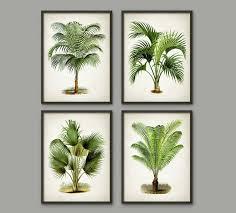 palm tree botanical wall art print set of 4 modern home decor palm tree book  on palm tree wall art set with palm tree botanical wall art print set of 4 modern home decor