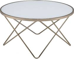 acme valora champagne and frosted glass coffee table 81825 acm