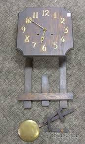 oak arts crafts wall clock 2381 1151