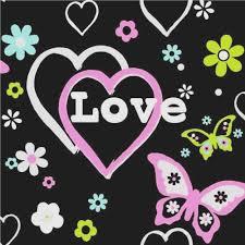 Pink And Black Wallpaper For Bedroom Debona Love Hearts Flowers Butterfly Girls Bedroomwallpaper 6207