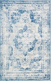 unique loom sofia collection blue 5 x 8 area rug 5 x 8