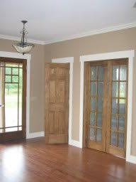 wood with white trim