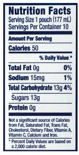 capri sun mounn cooler juice drink nutrition facts