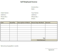 11 Self Employed Invoice Template Uk 7 Invoice 127805601925 Hours
