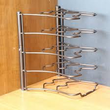 Kitchen Pan Storage Kitchen Counter And Cabinet Pan Organizer Pot Storage Lids Rack