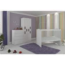 Enxoval de bebê, móveis para bebê, kit berço, poltrona de amamentação, cama infantil e decoração completa que irão fazer o quartinho um sonho! Quarto Infantil Completo Meu Bebe Branco 100 Mdf Moveis Canaa Ambiente Completo Infantil Casas Bahia 3741977